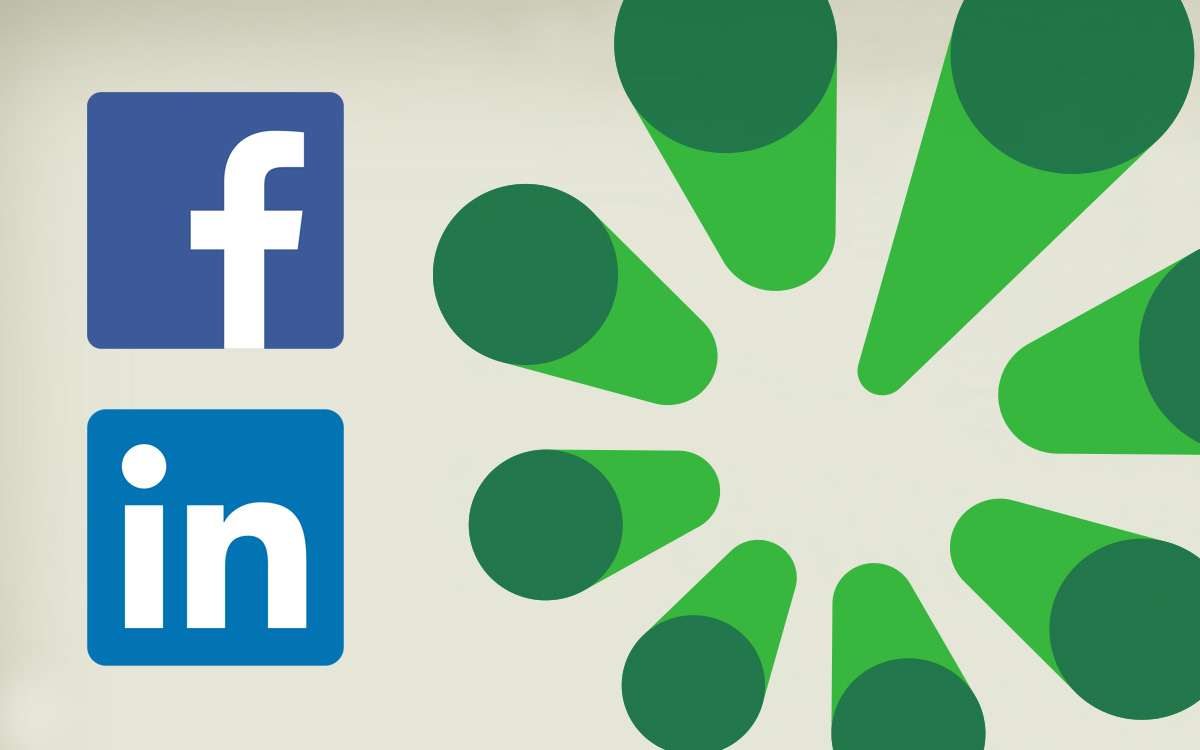 Facebook and LinkedIn